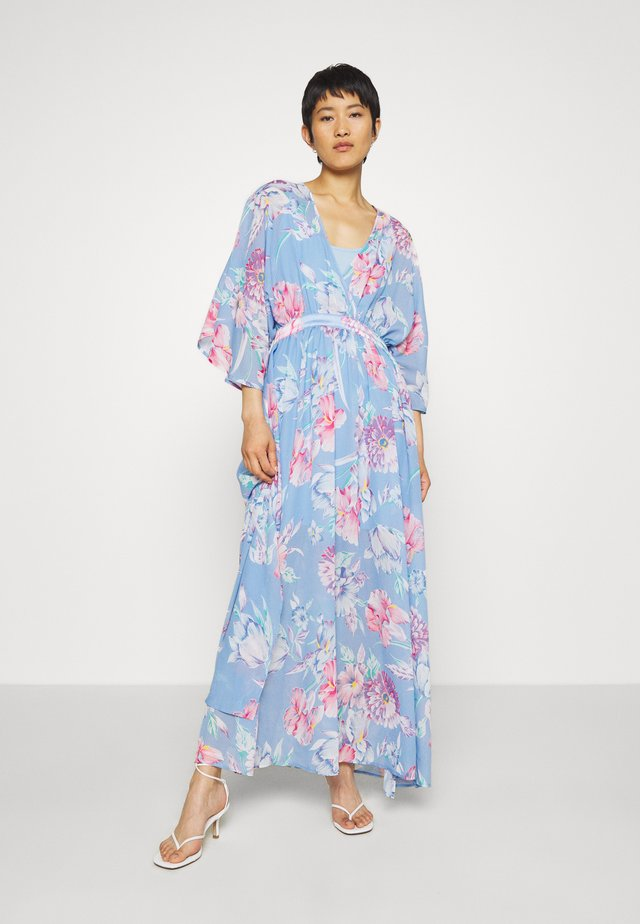 LUNA MAXI DRESS - Suknia balowa - light blue/pink