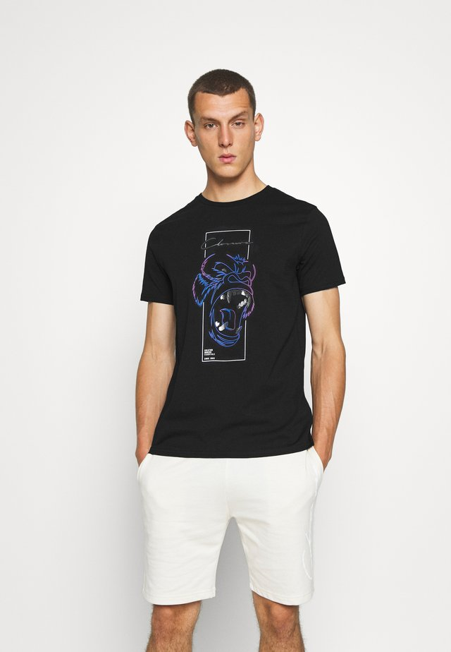 SCRIPT TEE - Print T-shirt - black