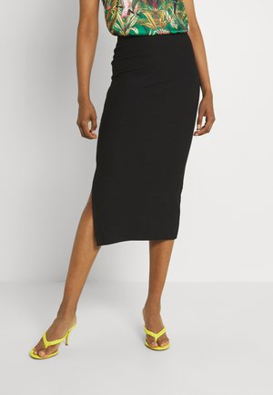 ONLNELLA LONG SLIT SKIRT  - Pencil skirt - black