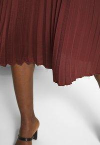 Rosemunde - A-line skirt - chestnut red - 3