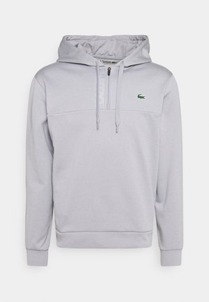 TECH HOODY ZIP - Felpa - silver chine/elephant grey