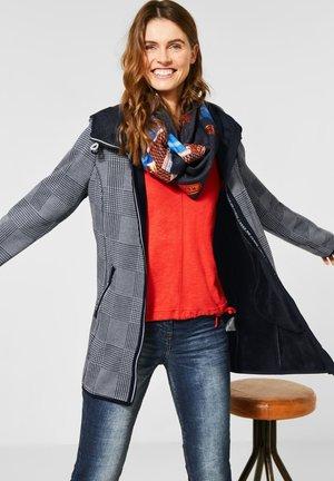 MIT KAPUZE - Short coat - blau