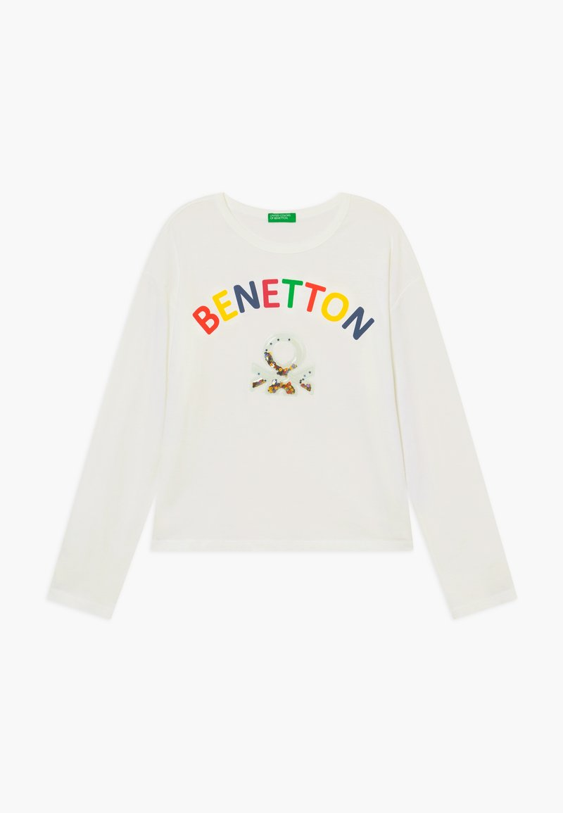Benetton - Camiseta de manga larga - white