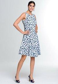 Alba Moda - Day dress - weiß marineblau - 1