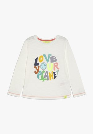 LOVE YOUR PLANET - Top s dlouhým rukávem - stone grey