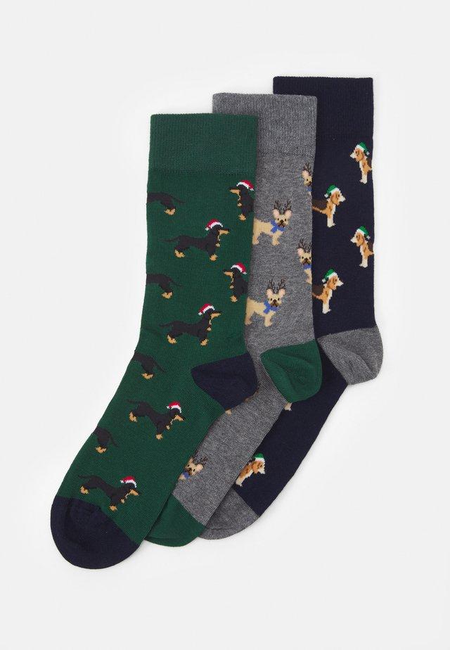 3 PACK - Socks - dark blue/dark green/mottled dark grey