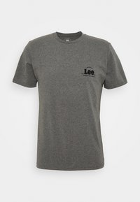 TONAL FLOCK LOGO TEE - Print T-shirt - dark grey