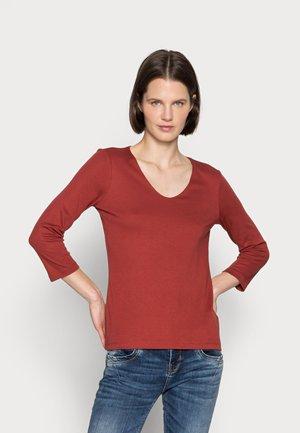 Long sleeved top - dark maroon red