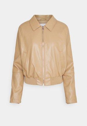 RINA - Faux leather jacket - camel