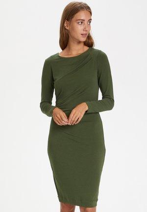 Jersey dress - beetle green