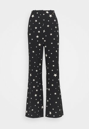 PUCK TROUSER - Bukse - black/warm white