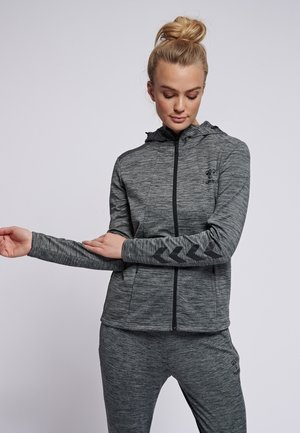 Training jacket - dark grey melange