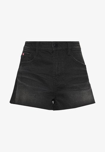 Denim shorts - black fog