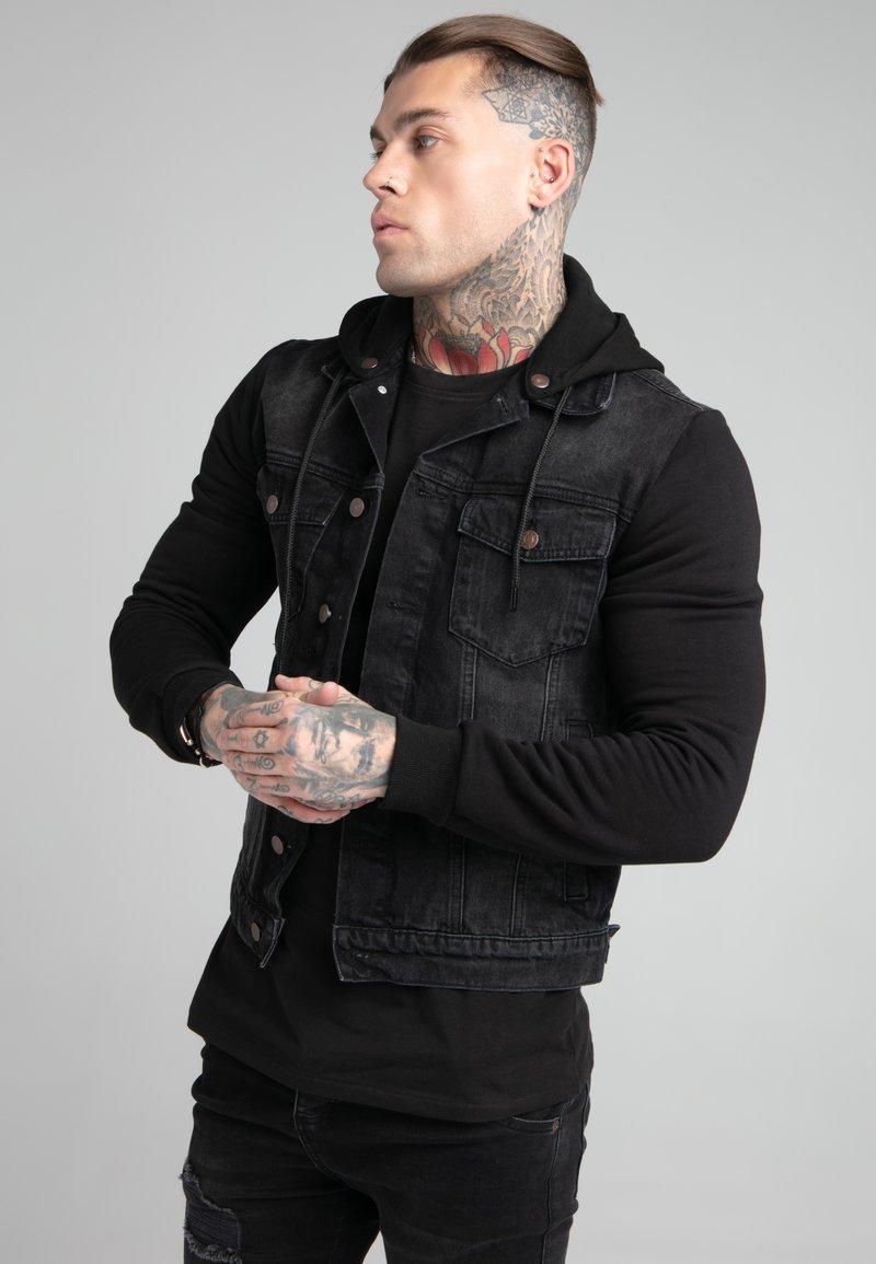 SIKSILK - JACKET - Denim jacket - black