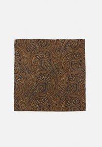 Burton Menswear London - PAISLEY BOWTIE AND HANKIE SET - Rusetti - brown - 4