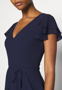 Nly by Nelly - DOUBLE FLOUNCE SLEEVE DRESS - Cocktail dress / Party dress - navy - 4