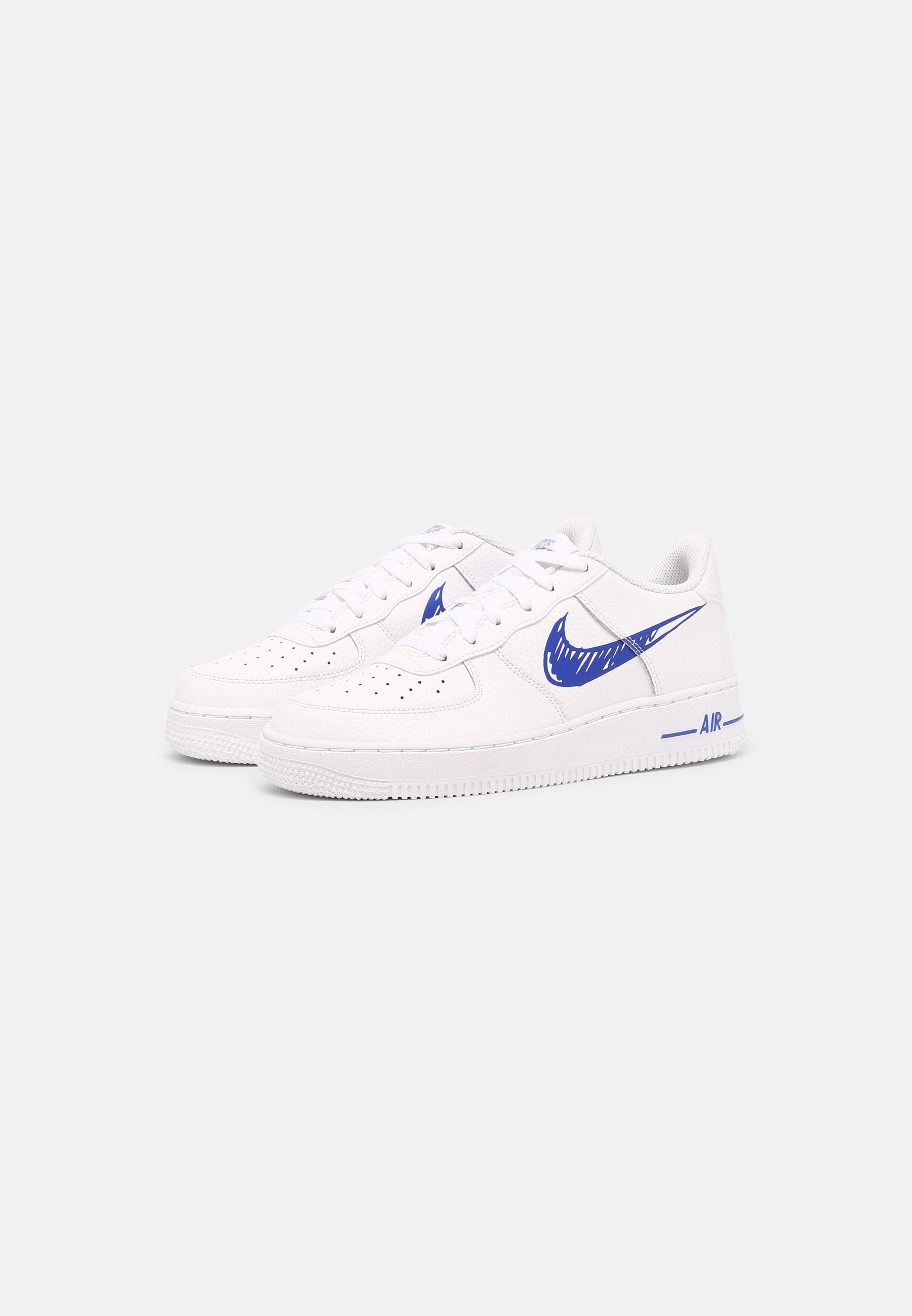 AIR FORCE 1 GS UNISEX - Sneakers basse - white/racer blue/white