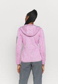 CMP - WOMAN FIX HOOD JACKET - Fleece jacket - purple fluo/bianco - 2