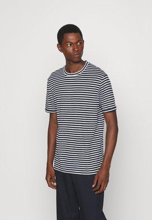 COMA STRIPE - Camiseta estampada - navy