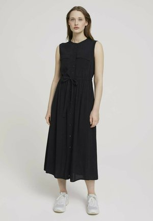 Shirt dress - deep black