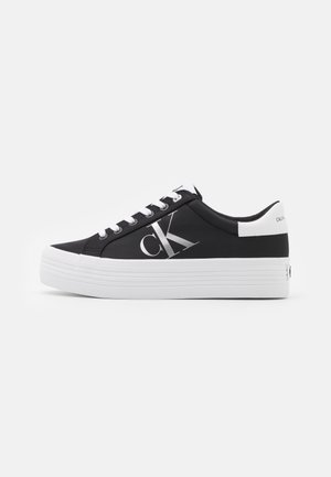 VULCANIZED FLATFORM LACEUP - Baskets basses - black