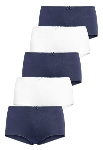 NAVY/WHITE MIDI COTTON KNICKERS FIVE PACK - Culotte - blue