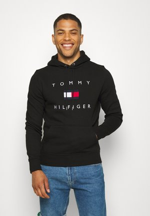 FLAG HOODY - Sweat à capuche - black
