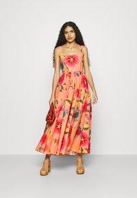 Farm Rio - FLORAL SEA MIDI DRESS - Day dress - multi coloured - 1