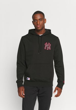 MLB NEW YORK YANKEES CHAIN STITCH HOODY - Klubbkläder - black