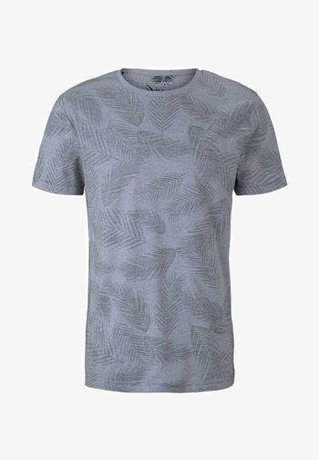 MIT PALMENPRINT - Print T-shirt - anthra inside palm leaf print