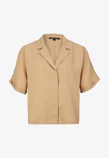 BOXY - Button-down blouse - sahara