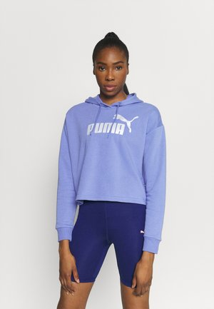 METALLIC LOGO HOODIE - Sweat à capuche - hazy blue/silver