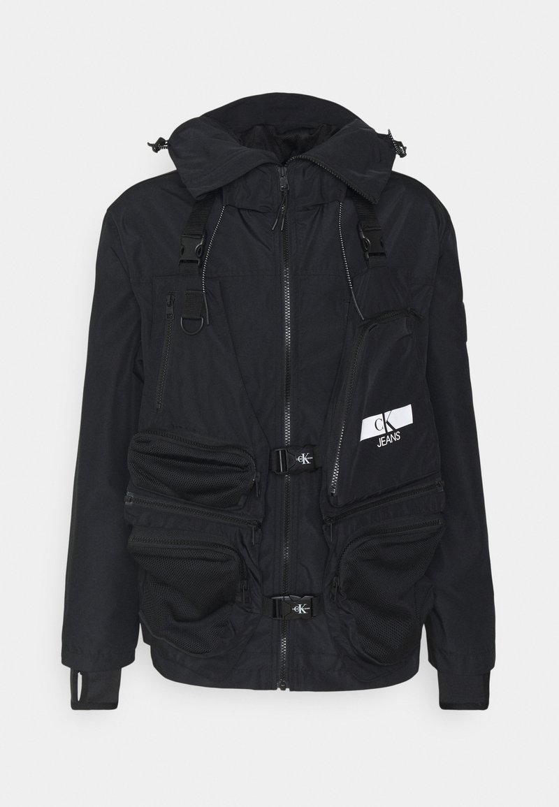 Calvin Klein Jeans - TECHNICAL 2 IN 1 UTILITY JACKET - Waistcoat - black