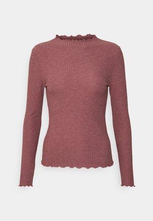 ONLEMMA HIGH NECK - Long sleeved top - rose brown