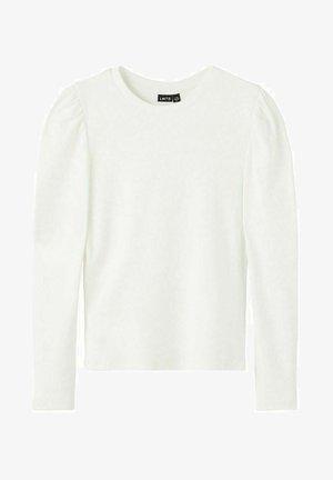 Bluzka z długim rękawem - white alyssum