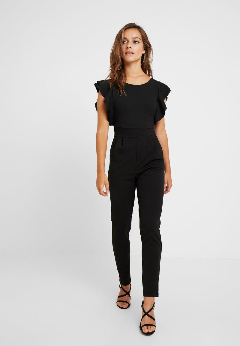 WAL G PETITE - RUFFLE - Jumpsuit - black
