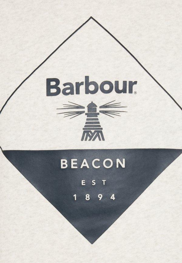 Barbour Beacon BLAZE OVERLAYER - Bluza - ecru marl/mleczny Odzież Męska CKAA