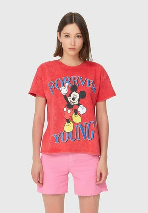 MICKEY - T-shirt con stampa - red