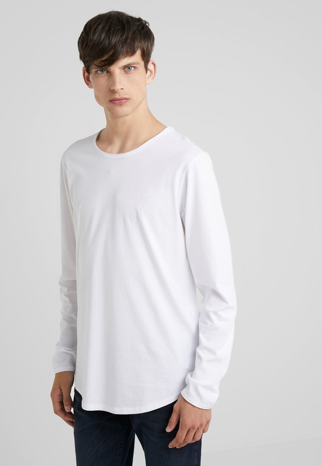 CARLOS - Topper langermet - white