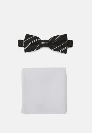 ONSTRIPP STRIPE BOWTIE SET - Kapesník do obleku - black/white