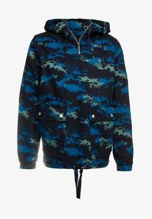 DAVID CAMO PRINT OVERHEAD - Denim jacket - true navy