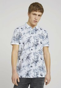 TOM TAILOR DENIM - Polo shirt - white navy thistle print - 0