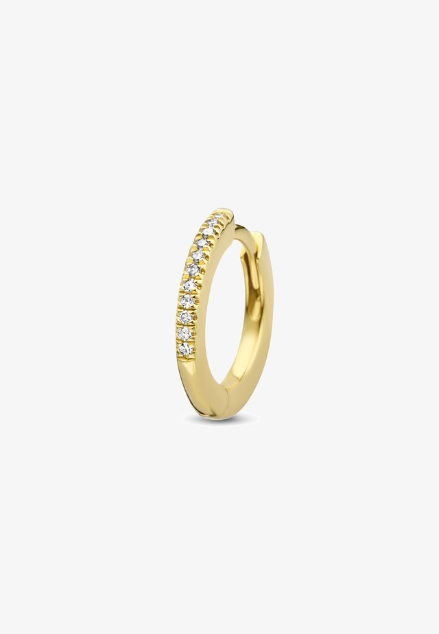 ENDLESS DIAMOND SINGLE HOOP - Boucles d'oreilles - 18k yellow gold vermeil