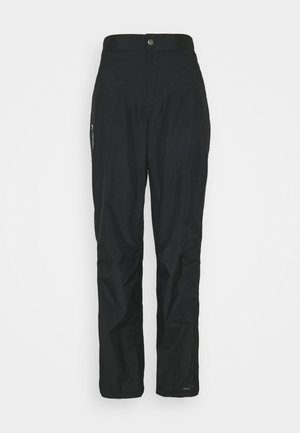 WOMENS YARAS RAIN ZIP PANTS III - Outdoorové kalhoty - black