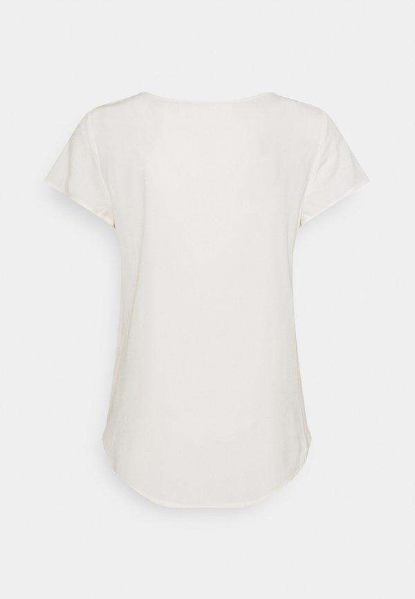 Vero Moda VMBECCA PLAIN - T-shirt basic - snow white/biały MHOI