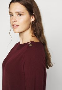 Evans - BERRY BUTTON CUFF TUNIC - Jumper - berry - 4
