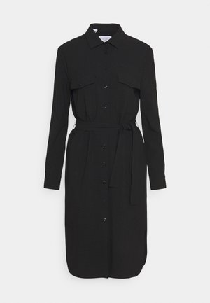 CARGO SHIRTDRESS SUMMER SUITING - Shift dress - black