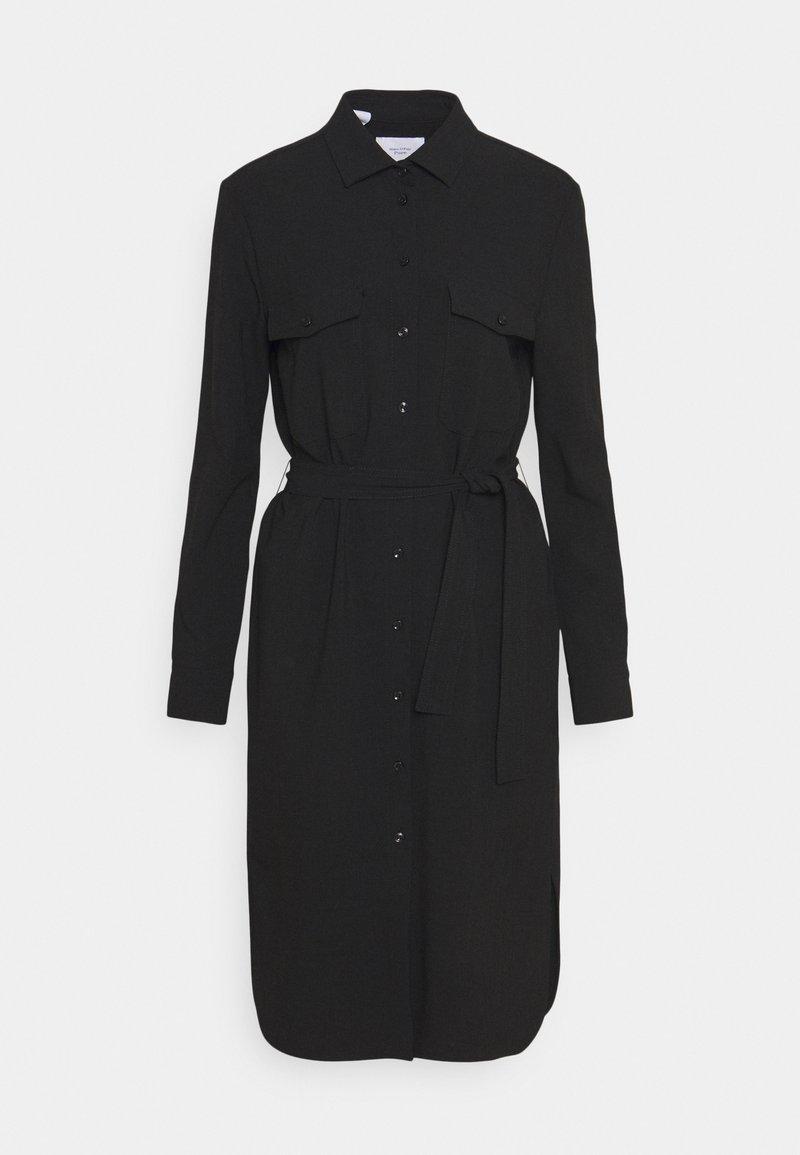 Marc O'Polo PURE - CARGO SHIRTDRESS SUMMER SUITING - Pouzdrové šaty - black