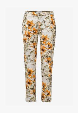 Trousers - offwhite/orange