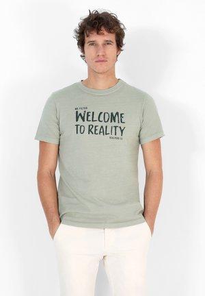 REALITY TEE - T-shirt print - light green